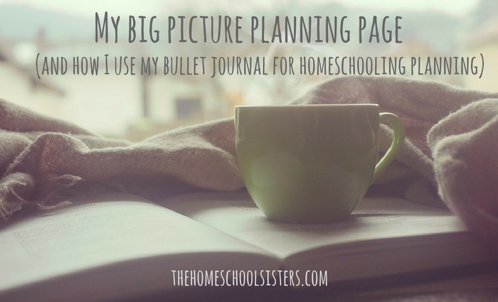 My Big Picture Planning Page (and how I use my bullet journal for homeschool planning) | Kara S. Anderson, The Homeschool Sisters Podcast