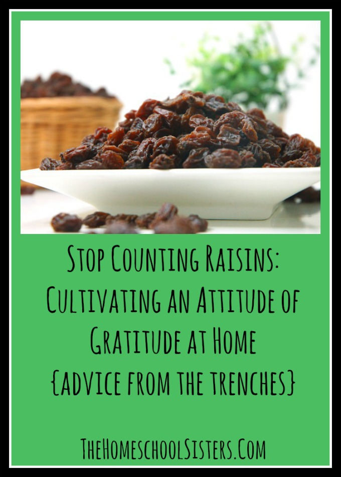 Stop Counting Raisins Cultivating an Attitude of Gratitude at Home {Advice From the Trenches} | The Homeschool Sisters Podcast