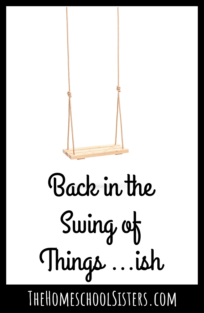 Back in the Swing of Things... ish {Episode 103} | The Homeschool Sisters Podcast